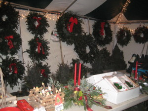 Johns Tent of Fresh Wreaths